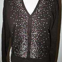 Talbots Brown Confetti Cardigan Sweater Nwt S P Photo
