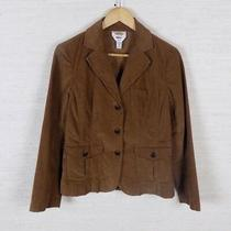Talbots Brown Corduroy Jacket Waist Length Size 8 Stretch Cotton Blend Photo