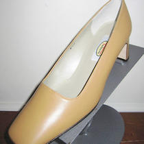 Talbots Butter Tan Hue Premium Genuine Leather Pumps Sz 6.5 M New Spain Lk Photo