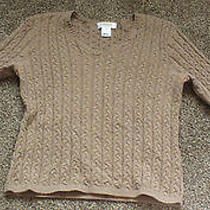 Talbots Cable Knit Sweater Size Small Photo