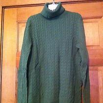Talbots Cable Turtleneck Green Size L Photo
