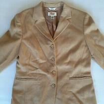 Talbots Camel Hair Blazer Tan Jacket Size 8 Petite Photo