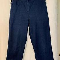 Talbots Capri Cropped Dark Blue Stretch Jean Pants Size 8 Photo