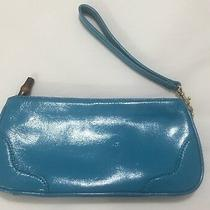 Talbots Clutch Turquoise Patent Leather Clutch Wallet Nwot Photo