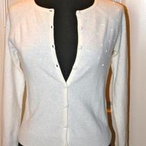 Talbots Crystallized Swarovski Elements Ivory P Cardigan Retail Price 119. Photo