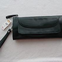 Talbots Dark Green Clutch Wrist Strap Purse  New With Tags Photo