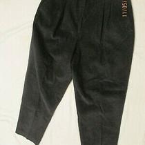 Talbots David Brooks New With Tags Corduroy Pant Size 16 Side Elastic Black Photo