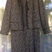 Talbots Dress Suit Chic & Beauty Tweed Coco Style Size 10 Made in Usa Photo