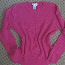 Talbots Fine Thread Cable Knit Sweater Pink Womens Large Photo