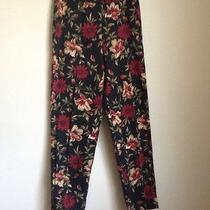 Talbots  Floral Pants Sz 8 Photo