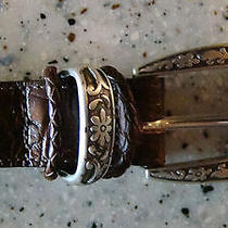 Talbots Genuine Leather Women's Belt Made in Usa Brown Size Small 6621  Photo