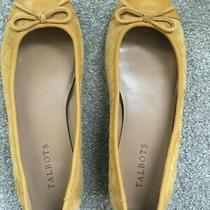 Talbots Gold Suede Ballet Shoes Size 7 Wide Photo