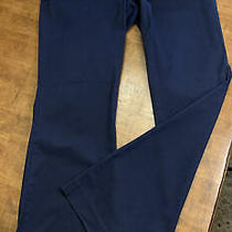 Talbots Heritage Pants Size 6 Straight Leg Navy Blue Photo