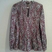Talbots Holiday Sequined Blouse Women's Size Small Photo