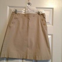 Talbots Kahki Skirt With Button Detail Size 10 Euc Photo