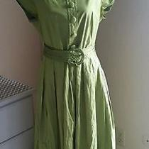 Talbots Lime Green Dress Size 12  Photo