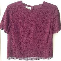 Talbots Maroon Lace Blouse- Size 6 Photo