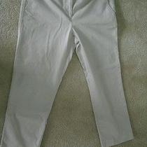 Talbots Modern Capri White Pants  Photo