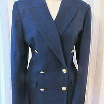 Talbots Navy Wool Naval Jacket Sz 10 Photo