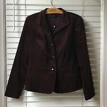 Talbots Nwt Womens Raisin Brown Velvet Jacket Blazer Stretch Sz 14 Photo