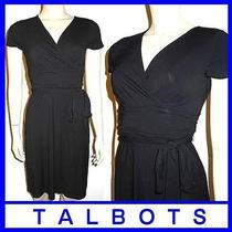 Talbots P/0/xs 100 Little Black Wrap Dress New Party Petite Fall Winter New Photo