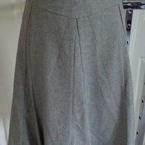 Talbots Petite Wool Blend Solid a-Line Skirt Light Gray Lined Knee Italy 12p Photo
