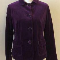 Talbots Petites Corduroy Womens  Blazer Jacket Purple Size 12p Photo