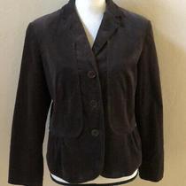 Talbots Petites Corduroy Womens Blazer Peplum  Jacket Brown Size 10p Photo