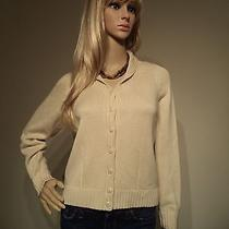 Talbots Petites High-End Beige Button Down Sweater Women's Size P (Small) Photo