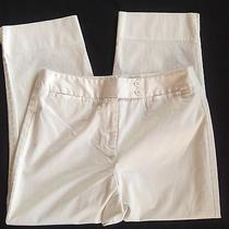 Talbots Petites Sz 10 White Stretch Cotton Pants Super Smooth & Nice Photo