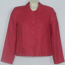 Talbots Petites Womens 2p Rose Colored Irish Linen Fully-Lined Jacket Top Photo