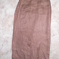 Talbots Petites Wrap Brown Linen Skirt Size 6 (B2) Photo