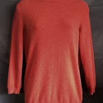 Talbots Pure Cashmere Sweater 3/4 Sleeve Rust Orange M Photo