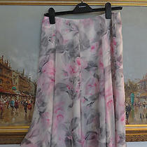 Talbots Pure Silk Floral Skirt Size 4 Photo