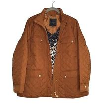 Talbots Quilted Jacket Spice Brown 1x Petite Nwt Photo
