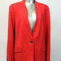Talbots Red Aberdeen Blazer Jacket Knit Lined One-Button Career Modern Large 14 Photo