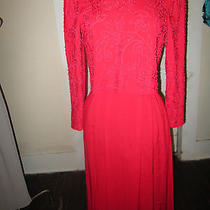 Talbots Red Dress Size 8 Red Beading Great for Valentine Day  Photo