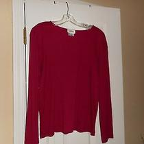 Talbots Red Ls Cotton Knit Top   Sz Xl   Very Good Condition Photo