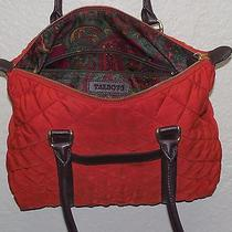 Talbots Red Quilted Pattern Shoulder Bah Tote Bag Purse in Euc Photo