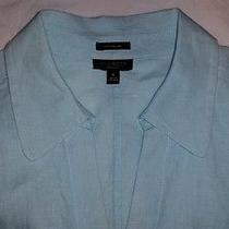 Talbots Robin Blue Pure Irish Linen Blouse Size 8 Photo