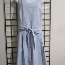 Talbotssize 16cute Blue and White Seersucker Dresslk Photo