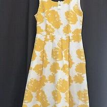 Talbots Size 2 White and Yellow Dress New With Tag Photo