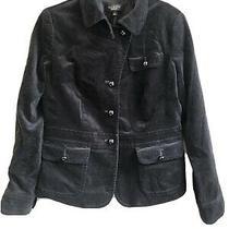 Talbots Size 8 Black Velvet Blazer Coat Jacket Photo
