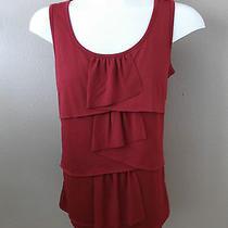 Talbots Size Xs Sleeveless Layered Front Red Shirt. Nwt's 34.50 Photo