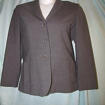 Talbots Stretch Solid Gray Wool Blend Long Sleeve Blazer Size 10 Photo