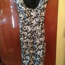 Talbots Summer Floral Dress-Black and White-Size 8- Vintage Look Photo