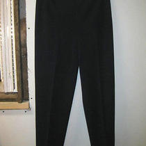 Talbots Sz 8 Stretch Professional Pants Side Zip Flat Front Smooth Fit Navy Blue Photo