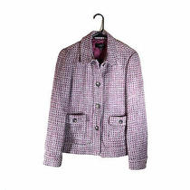 Talbots Tweed Blazer Jacket Women's Womens Size 6 Purple Grey Pockets Wool Blend Photo