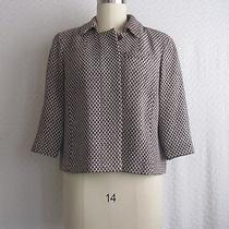 Talbots Velveteen Tweed Check Print Jacket Size 14w Excellent Condition Photo
