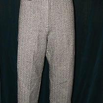 Talbots  Warm Thick 100% Wool Tweed Herringbone Gray Dress Slacks Pants Sz 16 Photo